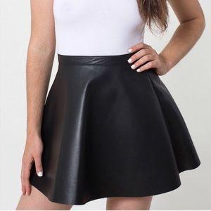 american apparel vegan leather circle skirt